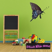 Butterfly Wall Decal - Wall Fabric - Repositionable Decal - Vinyl Car Sticker - usc004