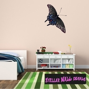 Butterfly Wall Decal - Wall Fabric - Repositionable Decal - Vinyl Car Sticker - usc005