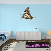 Butterfly Wall Decal - Wall Fabric - Repositionable Decal - Vinyl Car Sticker - usc006