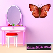 Butterfly Wall Decal - Wall Fabric - Repositionable Decal - Vinyl Car Sticker - usc007