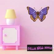 Butterfly Wall Decal - Wall Fabric - Repositionable Decal - Vinyl Car Sticker - usc008