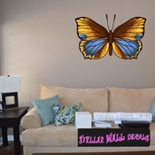 Butterfly Wall Decal - Wall Fabric - Repositionable Decal - Vinyl Car Sticker - usc011