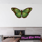 Butterfly Wall Decal - Wall Fabric - Repositionable Decal - Vinyl Car Sticker - usc012