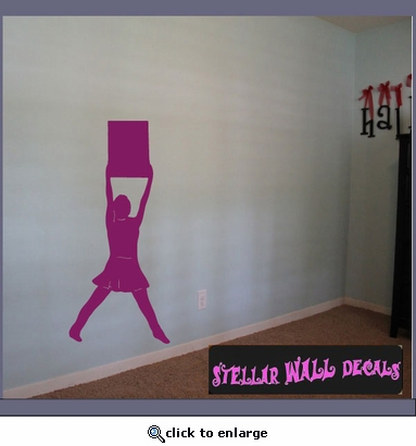 Cheerleader cheerleading cheer ns023 wall decal wall for Cheerleader wall mural