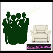 Christmas Carolers NS001 Wall Decal - Wall Sticker - Wall Mural SWD