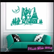 Christmas Holiday Vinyl Wall Decal - Wall Mural - Vinyl Stickers SWD