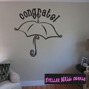 Congrats Baby Shower Celebrations Wall Decals - Wall Quotes - Wall Murals CE019CongratsVIII SWD
