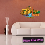Famous City Antalya Wall Decal - Wall Fabric - Repositionable Decal - Vinyl Car Sticker - usc001