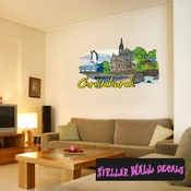 Famous City Christchurch Wall Decal - Wall Fabric - Repositionable Decal - Vinyl Car Sticker - usc086