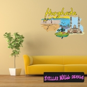 Famous City Hurghada Wall Decal - Wall Fabric - Repositionable Decal - Vinyl Car Sticker - usc082
