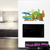 Famous City Istanbul Wall Decal - Wall Fabric - Repositionable Decal - Vinyl Car Sticker - usc006