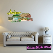Famous City Jaipur Wall Decal - Wall Fabric - Repositionable Decal - Vinyl Car Sticker - usc073
