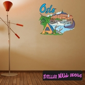 Famous City Oslo Wall Decal - Wall Fabric - Repositionable Decal - Vinyl Car Sticker - usc065
