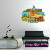 Famous City Phuket Wall Decal - Wall Fabric - Repositionable Decal - Vinyl Car Sticker - usc036