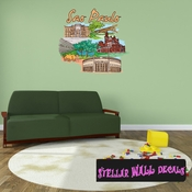 Famous City Sao Paulo Wall Decal - Wall Fabric - Repositionable Decal - Vinyl Car Sticker - usc096