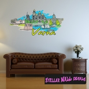 Famous City Varna Wall Decal - Wall Fabric - Repositionable Decal - Vinyl Car Sticker - usc076