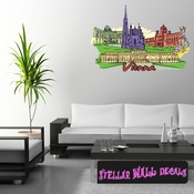 Famous City Vienna Wall Decal - Wall Fabric - Repositionable Decal - Vinyl Car Sticker - usc027