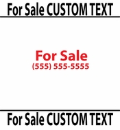 For Sale Custom Text vinyl decal sticker  SWD