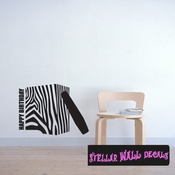 Hand Bag presents gifts Zebra birthday Celebrations Wall Decals - Wall Quotes - Wall Murals GIFT11VIII SWD