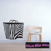 Hand Bag zebra gift present Celebrations Wall Decals - Wall Quotes - Wall Murals GIFT1VIII SWD