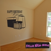 Happy birthday to you presents bags gifts Celebrations Wall Decals - Wall Quotes - Wall Murals CE044HappyVIII SWD