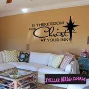 Is there Room for Christ at your Inn? Christmas Holiday Wall Decals - Wall Quotes - Wall Murals HD030 SWD