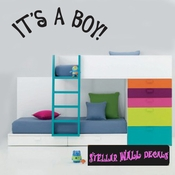 it�s a Boy Baby Shower Plain Text Celebrations Wall Decals - Wall Quotes - Wall Murals CE007ItsaboyVIII SWD