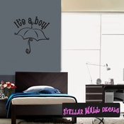 it�s a Boy Baby Shower Umbrella Celebrations Wall Decals - Wall Quotes - Wall Murals CE010ItsaboyVIII SWD