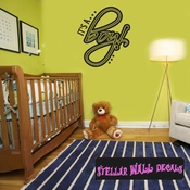 it�s a Boy Plain Baby Shower Text Celebrations Wall Decals - Wall Quotes - Wall Murals CE008ItsaboyVIII SWD