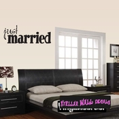 Just Married wedding marriage Celebrations Wall Decals - Wall Quotes - Wall Murals WE003JustmarriedVIII SWD