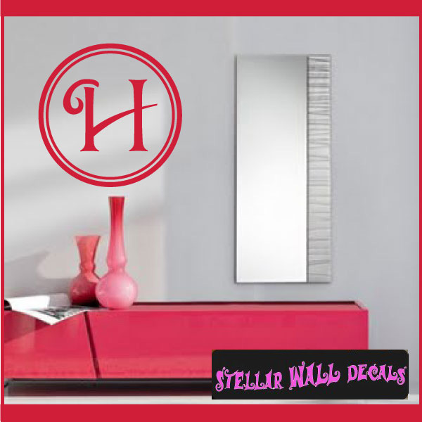 letter h monogram letters vinyl wall decal sticker mural quotes