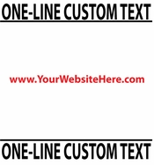 One Line Custom Text vinyl decal sticker  SWD