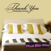 thank you for sharing our day Celebrations Wall Decals - Wall Quotes - Wall Murals WE008ThankVIII SWD