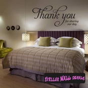 thank you for sharing our day Celebrations Wall Decals - Wall Quotes - Wall Murals WE010ThankVIII SWD