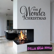 The wonder of Christmas Holiday Wall Decals - Wall Quotes - Wall Murals HD040 SWD