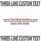 Three Line Custom Text vinyl decal sticker  SWD