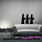 Three wise men Christmas Holiday Wall Decals - Wall Quotes - Wall Murals CP105 SWD