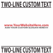 Two Line Custom Text vinyl decal sticker  SWD