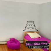 Wedding Cake Birthday Cake  Anniversary cake Plain Celebrations Wall Decals - Wall Quotes - Wall Murals CAKE3VIII SWD