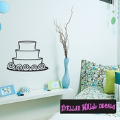 Wedding Cake Birthday Fancy Cake Celebrations Wall Decals - Wall Quotes - Wall Murals CAKE1VIII SWD