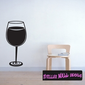 Wine glasses wine drinking relax Celebrations Wall Decals - Wall Quotes - Wall Murals WINEGLASS1VIII SWD