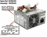 201828-001 Compaq Power Supply 200 Watt Atx For Deskpro Ep, Ex And Sb