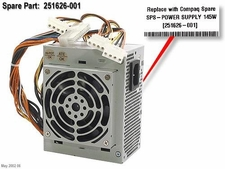 251626-001 Compaq Power Supply 145 Watt For Despro Ex,Exs, D300V Mini