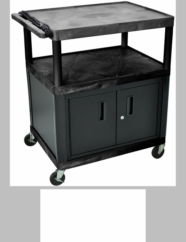 3 large shelf high open shelf mobile a v utility cart with for Furniture 4 less outlet