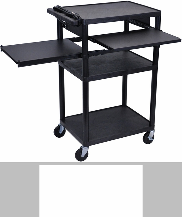 3 shelf high open a v utility cart black 32 39 39 w x 24 39 39 d for Furniture 4 less outlet