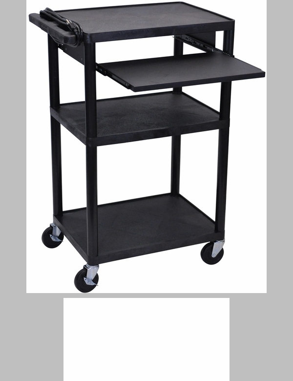 2 large shelf a v utility cart with locking cabinet for Furniture 4 less outlet