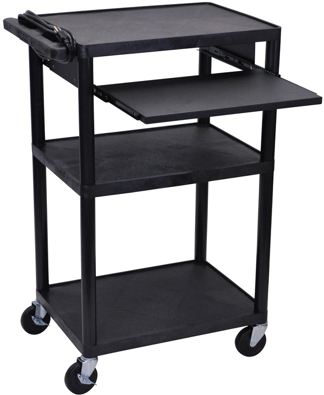3 shelf high open a v utility cart with front pullout for Furniture 4 less outlet