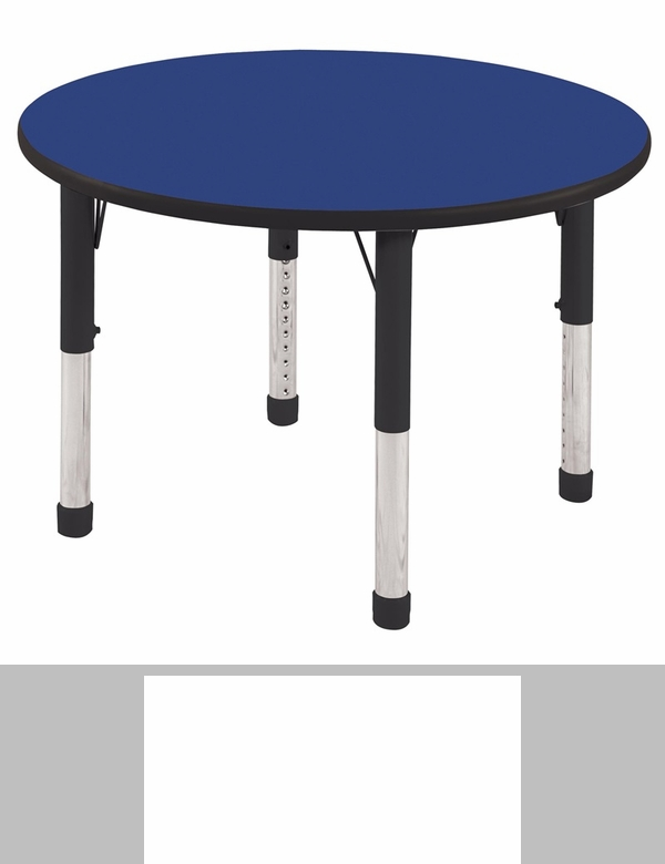30u0027u0027W Round Activity Table With Laminate Table Top And Height Adjustable  Legs [ELR 14121 ECR]