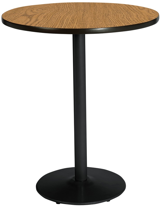 42 39 39 round laminate bistro height pedestal table with for 42 inch round pedestal table
