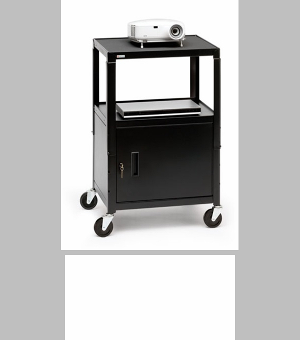 Mobile notebook data projector cart with 6 electrical for Furniture 4 less outlet